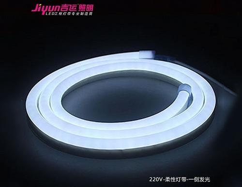 柔性LED灯带在广告装饰中任意组合各种图案。