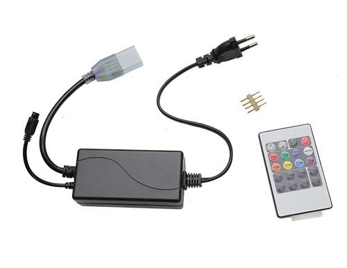 220V 5050 RGB七彩遥控器 四线