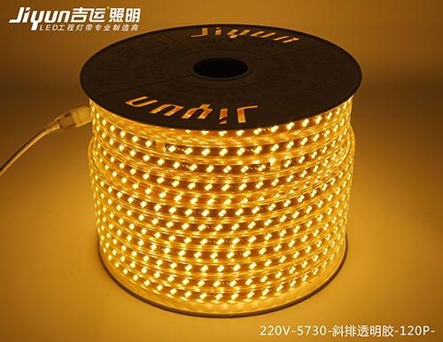 庆阳220V-5730-斜排透明胶-120P